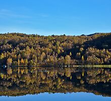 Autumn lake by Bockman