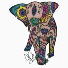 Elephant in Sharpie  by JasmineMDeLeon
