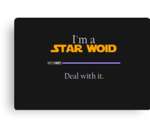 Deal with it: Star Wars Canvas Print