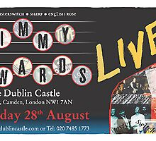 Flyer design for Jimmy Edwards Live by John O'Connor