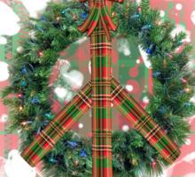 Christmas Peace Wreath Sticker