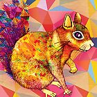 Squirrel Art by Drawstring