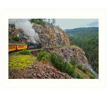 Mountain Top Train Ride Art Print