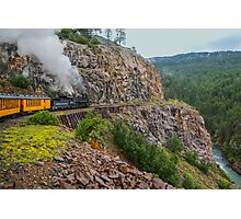 Mountain Top Train Ride Photographic Print