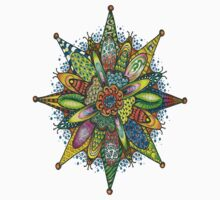 Colored Zentangle Pattern  by smentcreations