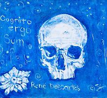 Rene Descartes in oil skull!  by sivlongtaing