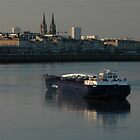 Barge, Garonne River, Bordeaux, France 2012 by muz2142