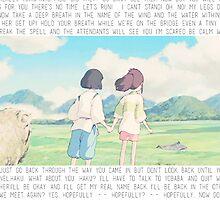 Spirited Away - Chihiro & Haku by ChloeJade
