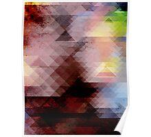 Grunge Geometric Graphic Poster