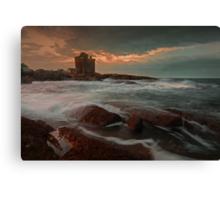 Windy Gloaming at Portencross Canvas Print