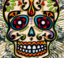 Mexican Sugar Skull, Day of the Dead, Dias de los muertos Sticker