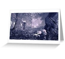 Haunted House BW Greeting Card