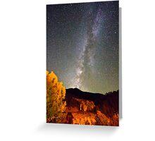 Autumn Milky Way Night Sky  Greeting Card