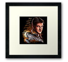 Firefly - You Can't Take The Sky From Me. Framed Print