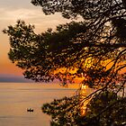 Fishing at Sunset in the Adriatic by Robert Kelch, M.D.