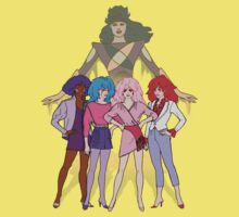 Jem and the Holograms - Group with Synergy - Color T-Shirt