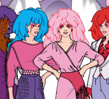 Jem and the Holograms - Group with Synergy - Color Sticker