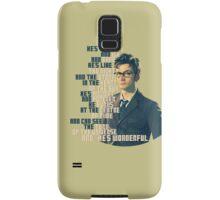 David Tennant - He's wonderful Samsung Galaxy Case/Skin