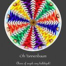 Oh Tannenbaum Mandala Poster w/grey background by TheMandalaLady