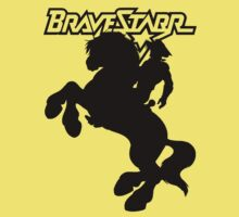 BraveStarr - Thirty Thirty and BraveStarr  - Solid Black - Shadow Art Kids Clothes