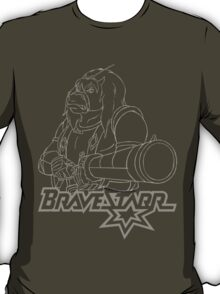 BraveStarr - Thirty Thirty and Sara Jane - White Line Art T-Shirt