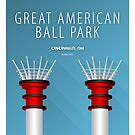 Minimalist Great American Ball Park - Cincinnati by pootpoot