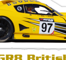 """GR8 British"" Chevron GTC race car (dark T-shirt - Hoodie) Sticker"