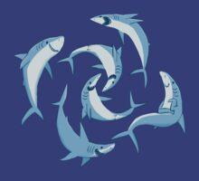 School of Happy Sharks by Joshua  Smyth