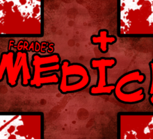 Medic bloody Cross Sticker