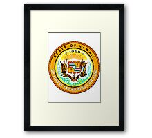 Sunset Hawaii | State Seal | SteezeFactory.com Framed Print