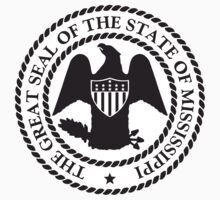 Black N White Mississippi | State Seal | SteezeFactory.com by FreshThreadShop