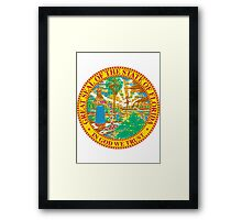 Florida Bricks | State Seal | SteezeFactory.com Framed Print