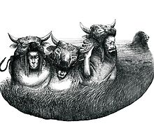Aesop's Fables - the lion and the cows by CoRrenti