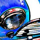 Blue Retro Mini Cooper by pearloil
