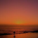 """Surfer"" at Sunrise Coogee by Toni McPherson"