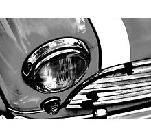 Grey Retro Mini Cooper Photographic Print
