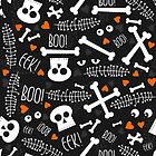 boo! eek! halloween scary dark messy pattern by demonique