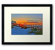 Sea Oats in the Sunrise Framed Print