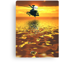 Apache AH-1  Attack Helicopter Canvas Print