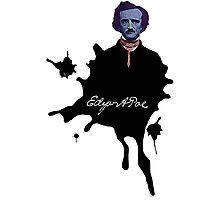Edgar Allan Poe ink blot Culture Cloth Zinc Collection Photographic Print