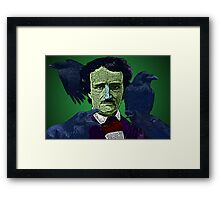 Edgar Allan Poe portrait Culture Cloth Zinc Collection Framed Print