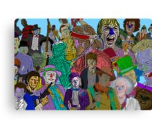 Pop Culture Collage by Culture Cloth Zinc Collection Canvas Print