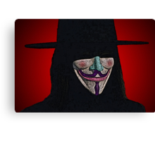 Guy Fawkes V for Vendetta Anonymous mask Culture Cloth Zinc Collection Canvas Print