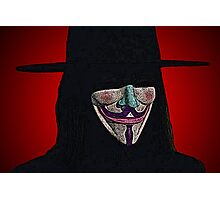 Guy Fawkes V for Vendetta Anonymous mask Culture Cloth Zinc Collection Photographic Print