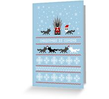 Red Christmas Sweater + Card Greeting Card