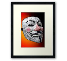 Guy Fawkes V for Vendetta Anonymous mask 2 Culture Cloth Zinc Collection Framed Print