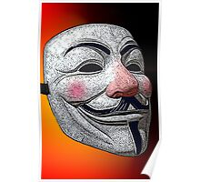 Guy Fawkes V for Vendetta Anonymous mask 2 Culture Cloth Zinc Collection Poster