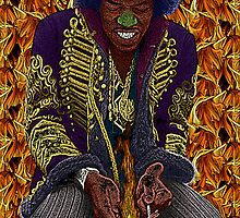 Jimi Hendrix on fire by Culture Cloth Zinc Collection by CultureCloth