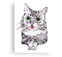 Lil' Bub Kitty - Meow! Canvas Print