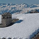 Snow on the roof by Judi Lion